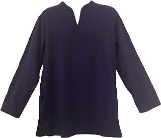 Tunic Hand-Loomed Cotton Kurta Split Neck Shirt