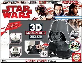 STAR WARS- Dibujos Animados y cómic 3D Sculpture Puzzle Darth Vader, Black Side Edition, Color Negro (Educa Borrás 17334)