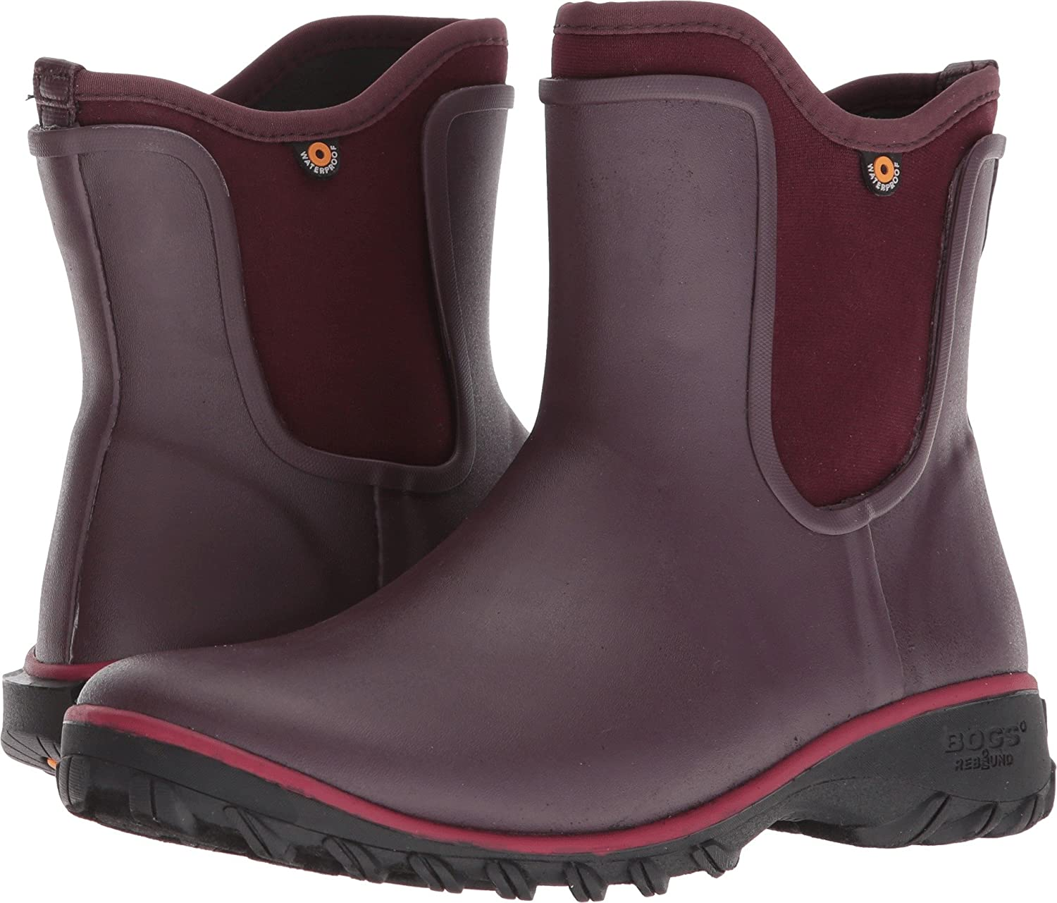 Bogs Women's Sauvie Solid Slip-On Boot Wine 6 B US