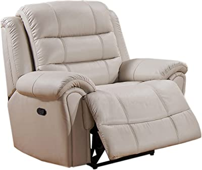 Coja by Sofa4life Leather Recliner, Ivory