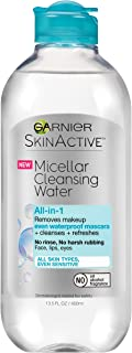 Garnier SkinActive Micellar Cleansing Water, For Waterproof Makeup,  13.5 fl. oz.