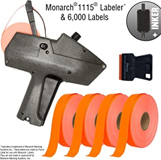 Monarch 1115 Price Gun with Labels Starter Kit: Includes Price Gun, 6,000 Fluorescent Red Pricing Labels, Inker and Label Scrapper
