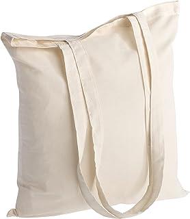 Polhim Sac Toile Coton Réutilisable - Sac Fourre-tout en Tissu de Coton Lavable - Linge, Vêtements de Gymnastique, Courses...