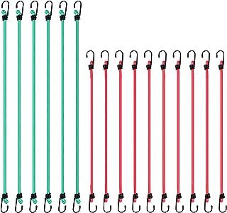 CARTMAN Bungee Cords 16pcs, with Steel Hook