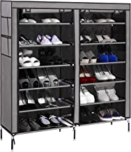 Styleys Multipurpose Portable Folding Shoe Racks for Home Organisers with Waterproof cover-12 Tiers (Grey)