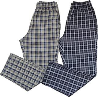 all seasons Men's Checked Cotton Comfort Night Wear Pyjama Pant Combo Pack of 2