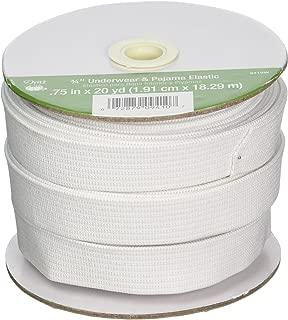 Dritz 9410W Underwear & Pajama Woven Elastic, White, 3/4-Inch by 20-Yard