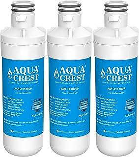 AQUACREST MDJ64844601 Refrigerator Water Filter, Compatible with LG LT1000P, LT1000PC, LT1000PCS, ADQ74793501, ADQ74793502, Kenmore 469980, 9980 (Pack of 3)