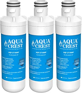 LT1000P Refrigerator Water Filter Replacement of AQUACREST, Compatible with LG LT1000P, LT1000PC, LT1000PCS, MDJ64844601, ADQ74793501, ADQ74793502, Kenmore 46-9980, 9980 (Pack of 3)