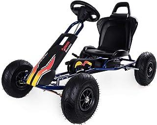 Ferbedo- Gokart con pedales AR5R28 Negro Azul (Kart con rueda libre automática, niños 3-8 años, capacidad de carga 50 kg) (F005750) , color/modelo surtido