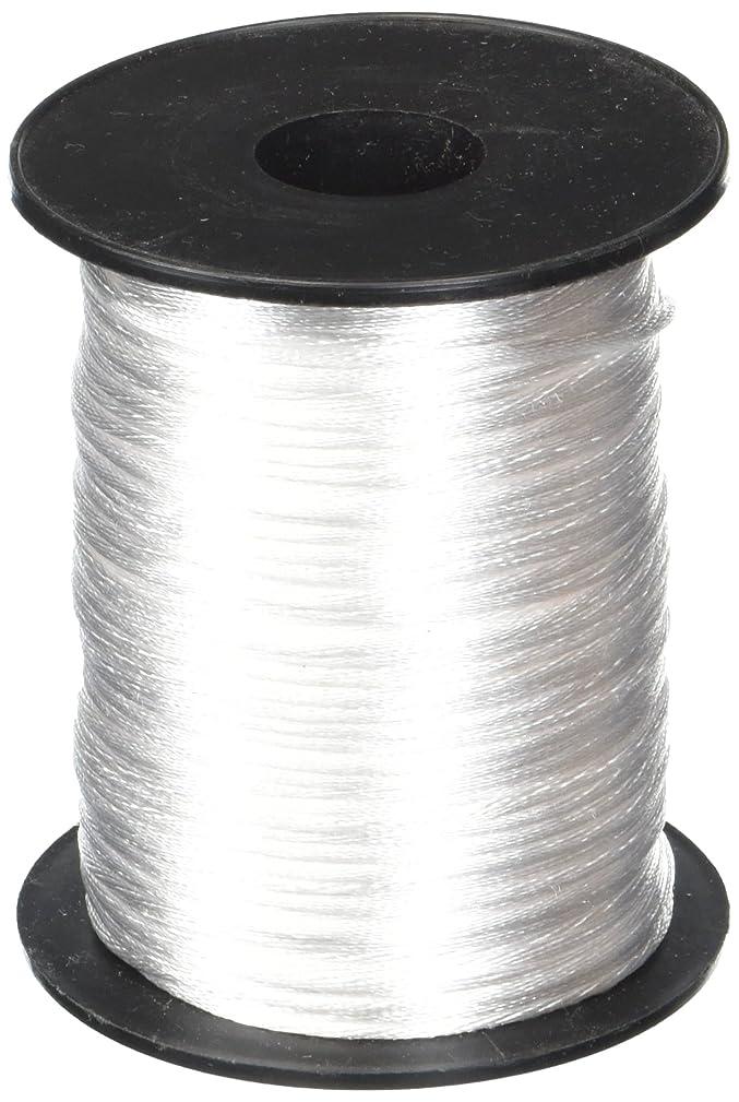 White 1.5mm x 100 yards Rattail Satin Nylon Trim Cord Chinese Knot orykqzr583190