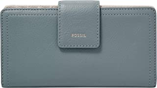 Fossil Women's Wallet, 6.75''L x 0.75''W x 3.5''H, Light Blue