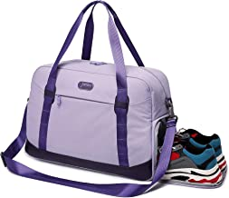 JAHBS Sports Gym Bag with Shoe Compartment & Wet Pocket, Travel Duffle Bag for Men and Women Lightweight