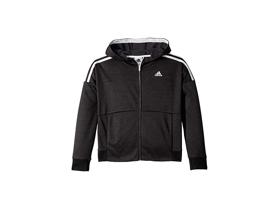 adidas Kids Poly Fleece Jacket (Big Kids) (Black 095A) Girl
