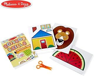 Melissa & Doug Scissor Skills Activity Book with Pair of Child-Safe Scissors (20 Pages)