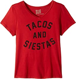 The Original Retro Brand Kids - Tacos & Siestas Short Sleeve V-Neck (Big Kids)