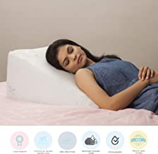 """The White Willow Bed Wedge Back Support Cushion Pillow For Sleeping (24""""L x 24""""W x 10""""H), Acid reflux , GERD, Post Surgery, leg Elevation - Cooling Gel Infused Memory Foam & HR Foam With Removable Pillow Cover"""