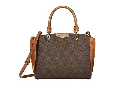 MICHAEL Michael Kors Rochelle Large Satchel (Brown/Acorn) Satchel Handbags