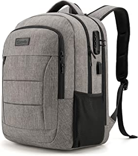Travel Laptop Backpack Water Resistant Anti-Theft Bag with USB Charging Port and Lock 17.3 Inch Computer Business Backpack...
