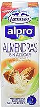 Alpro Central Lechera Asturiana Bebida de Almendra Sin Azúcar - Paquete de 8 x 1000 ml - Total: 8000 ml