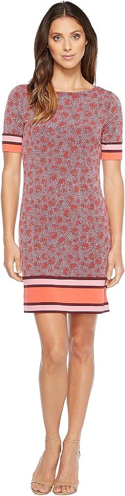 MICHAEL Michael Kors - Augusta Border Short Sleeve Dress
