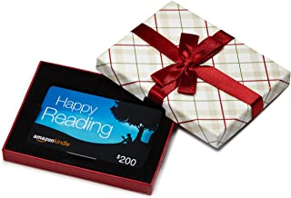 Amazon.com Gift Card in a Plaid Gift Box (Amazon Kindle Card Design)