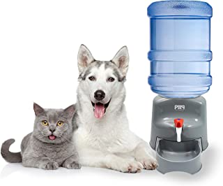 New! Pet Water Dispenser - Fits Any 5 Gallon Water Bottle! - No Filters Required - Easy to Use & Clean - Pet Water Dispenser for Dogs & Cats - Safe Plastic.