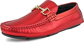 The Original Men's Perforated and Embossed Driving Moccasin Loafer Styles Rila, Regan