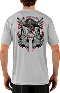 Pirate Life with Sharks Men's UPF 50+ Short Sleeve T-Shirt