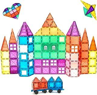 Magnescape 100 Pcs Magnetic Tiles | Educational Preschool Kids Toys For Building Construction Structures | Stimulates Crea...