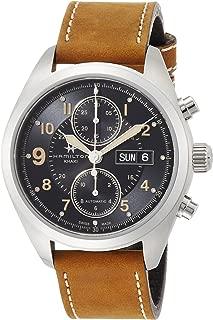 Khaki Field Auto Chrono Brown Leather Strap Men's Watch H71616535