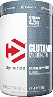 Dymatize 100% Pure Glutamine, Unflavored, 2.2 lbs