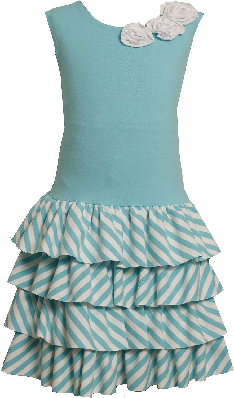 Bonnie Jean Big Girls' Drop Waist Knit Dress with Tiers