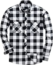 Alimens & Gentle Men's Button Down Regular Fit Long Sleeve Plaid Flannel Casual Shirts