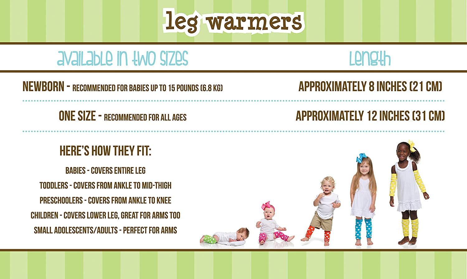 juDanzy 4 Pack Baby and Toddler Leg Warmers for Boys and Girls
