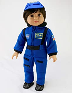 American Fashion World Navy Blue NASA Astronaut Suit | Fits 18