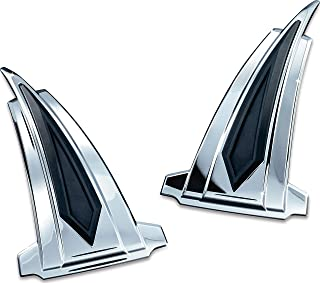 Kuryakyn 7692 Motorcycle Accent Accessory: Saddlebag Front Kick Accents for 2010-17 Victory Motorcycles, Chrome, 1 Pair