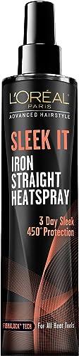 L'Oréal Paris Advanced Hairstyle SLEEK IT Iron Straight Heatspray, 5.7 fl. oz. (Packaging May Vary)