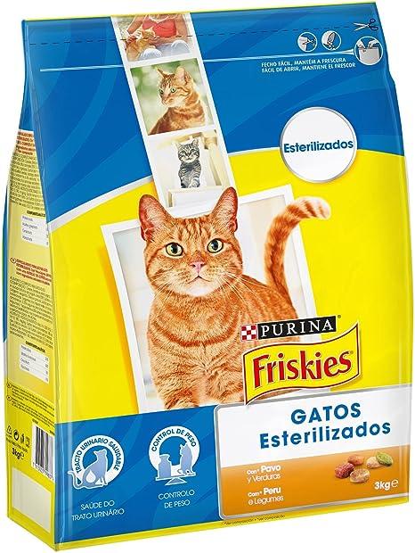 Purina Friskies Esterilizados Pienso para Gato Adulto Pavo y Verduras 6 x 1,5 Kg
