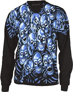 Skull Pile Blue Fantasy All Over Print Long Sleeve T-Shirt