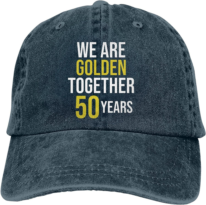 50th Wedding Anniversary We are Golden Adjustable Washed Unisex Dad Hat Cowboy Cap Denim Cap Baseball Cap