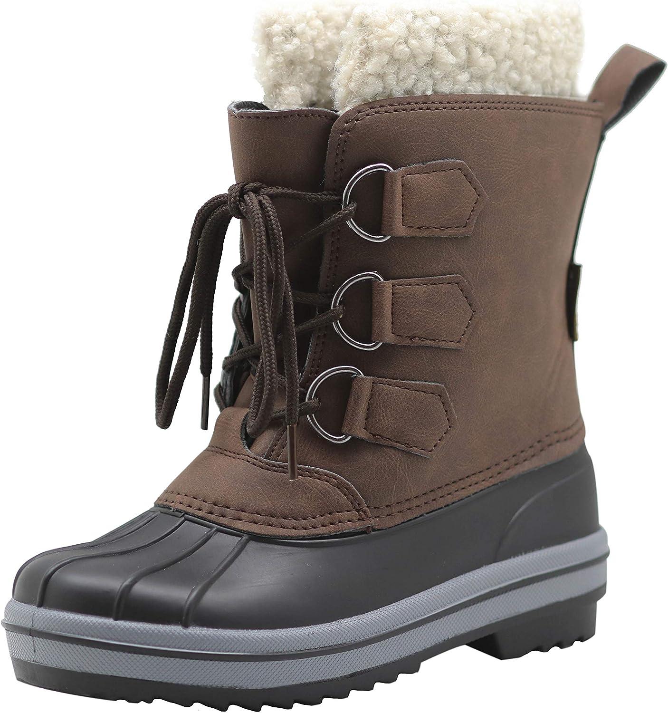 Apakowa Kids Outstanding Boys Girls Waterproof Outdoor Insulated Snow Popular Boots