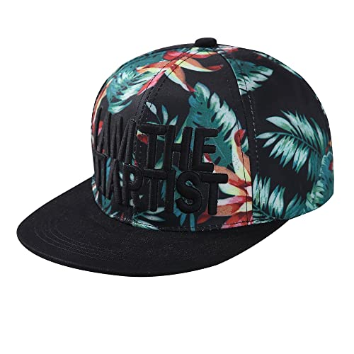 80482b033ad ZLYC Women Word Embroidered Floral Flat Bill Snapback Hat Adjustable  Baseball Cap