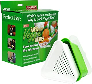 Rapid Veggie Steamer | Microwave Fresh & Frozen Vegetables in Less Than 4 Minutes | Perfect for Dorm, Small Kitchen, or Office | Dishwasher-Safe, Microwaveable, BPA-Free
