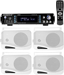 """Rockville 1000w Home Theater System w/Bluetooth Receiver+(4) 4"""" Swivel Speakers"""