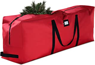 Premium Christmas Tree Storage Bag - Fits Up to 7.5 ft Tall Artificial Disassembled Trees, Durable Handles & Sleek Dual Zi...
