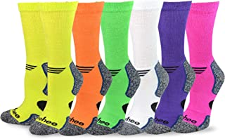 TeeHee Viscose from Bamboo Diabetic Sports Cushion Crew Socks 6-Pack