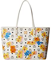 MCM - Essential Floral Print Top Zip Shopper