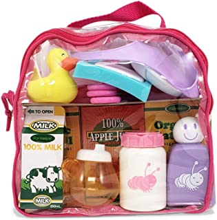 """JC Toys Baby Nursery 20 Piece Accessory Bag for Keeps Playtime!   Accessories fit Most Dolls up to 15""""   Play Accessories ..."""