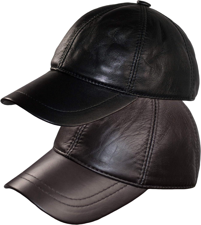 Dazoriginal Leather Baseball Cap Genuine Leather Peak Hat Unisex Trucker Hiphop